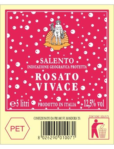 P.E.T. 5 LT VINO IGP SAL. ROSATO VIVACE 12.50%VOL